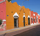 Colorful street in Merida, Yucatan