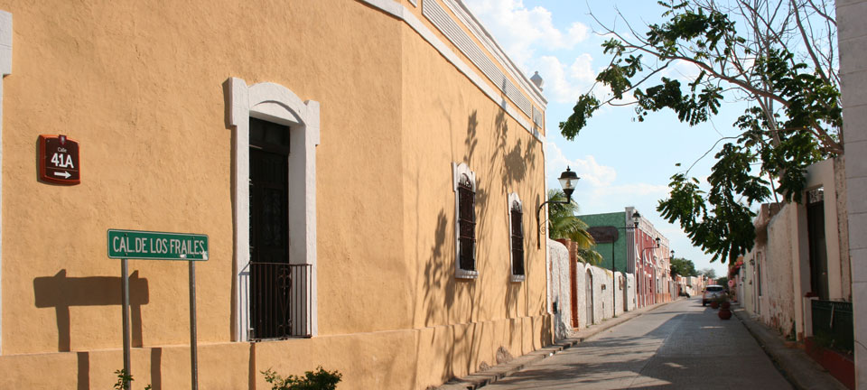 Beautiful street in colonial Valladolid
